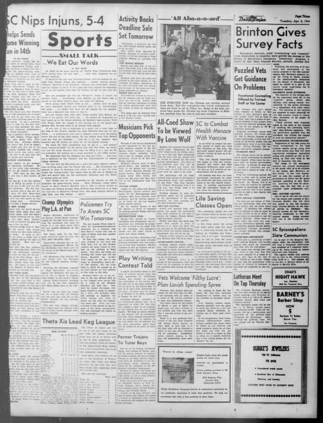 Daily Trojan, Vol. 37, No. 97, April 02, 1946
