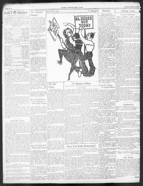 Daily Trojan, Vol. 24, No. 149, May 23, 1933