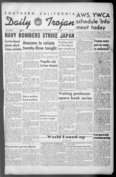 Daily Trojan, Vol. 36, No. 154, July 11, 1945
