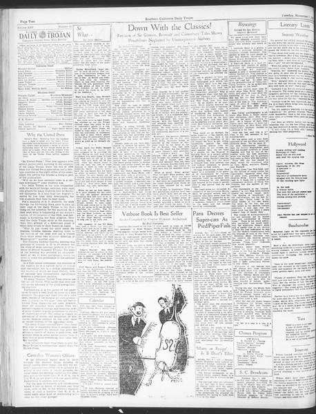 Daily Trojan, Vol. 25, No. 32, November 07, 1933