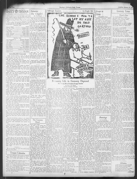 Daily Trojan, Vol. 24, No. 68, January 10, 1933