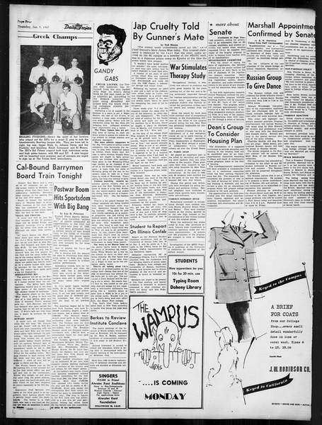 Daily Trojan, Vol. 38, No. 69, January 09, 1947