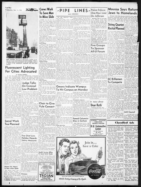 Daily Trojan, Vol. 38, No. 61, December 11, 1946