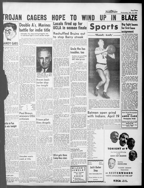 Daily Trojan, Vol. 37, No. 70, February 13, 1946