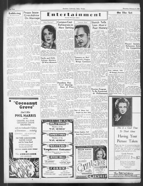 Daily Trojan, Vol. 24, No. 82, February 09, 1933