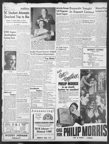 Daily Trojan, Vol. 39, No. 80, February 17, 1948