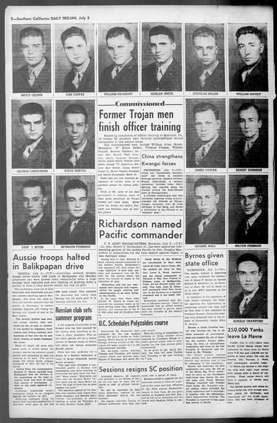 Daily Trojan, Vol. 36, No. 148, July 03, 1945