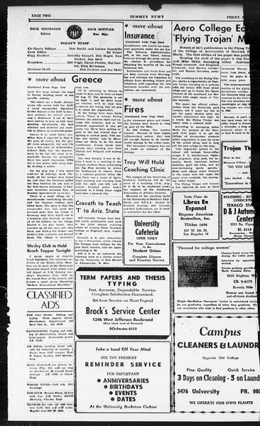 Summer News, Vol. 1, No. 19, August 09, 1946
