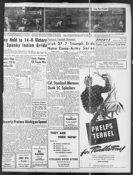 Daily Trojan, Vol. 39, No. 40, November 10, 1947