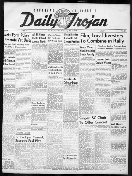 Daily Trojan, Vol. 38, No. 23, October 16, 1946