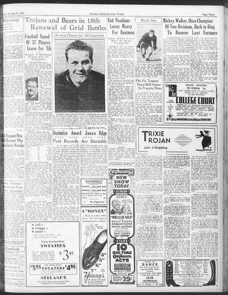 Daily Trojan, Vol. 25, No. 26, October 27, 1933