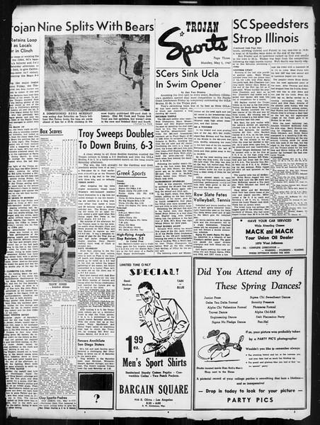Daily Trojan, Vol. 38, No. 127, May 05, 1947