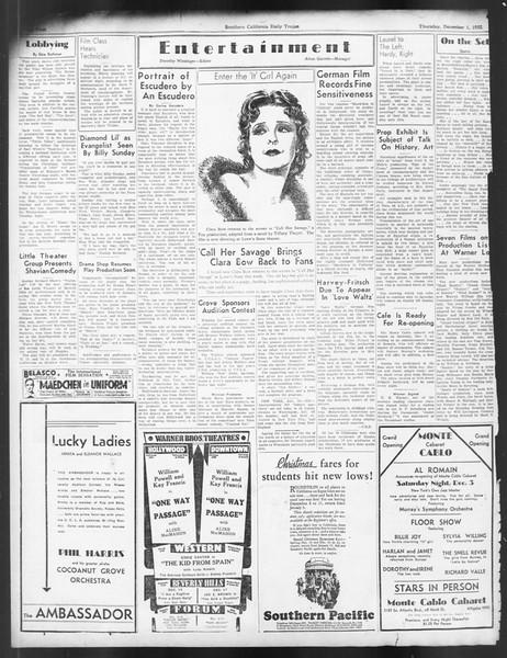 Daily Trojan, Vol. 24, No. 56, December 01, 1932