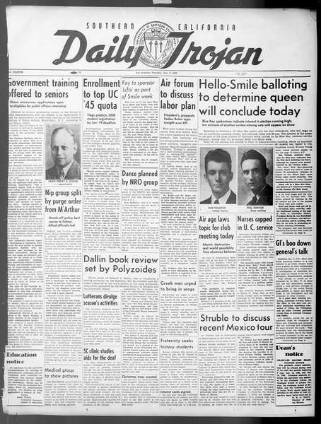 Daily Trojan, Vol. 37, No. 44, January 08, 1946