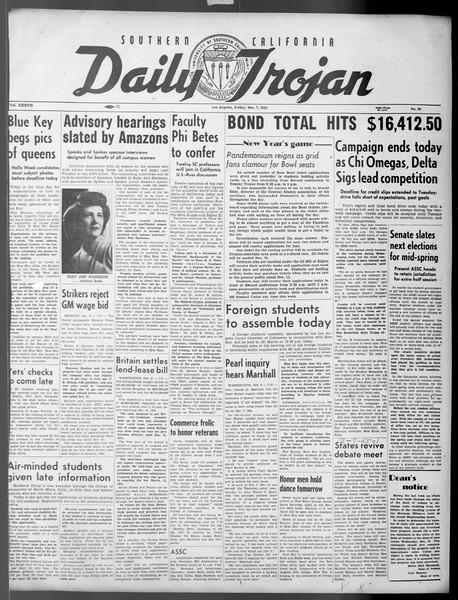 Daily Trojan, Vol. 37, No. 26, December 07, 1945