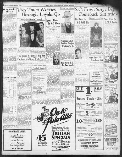 Daily Trojan, Vol. 24, No. 27, October 17, 1932
