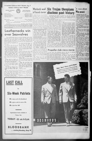 Daily Trojan, Vol. 36, No. 175, August 09, 1945