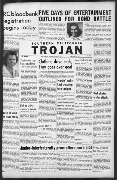 The Trojan, Vol. 35, No. 124, May 29, 1944