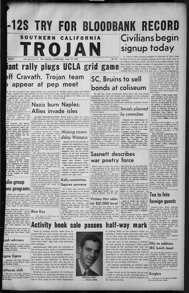 Southern California Trojan, Vol. 35, No. 35, September 22, 1943