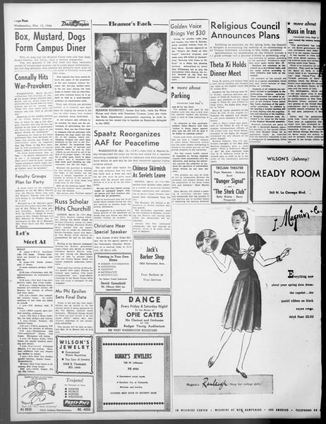 Daily Trojan, Vol. 37, No. 83, March 13, 1946