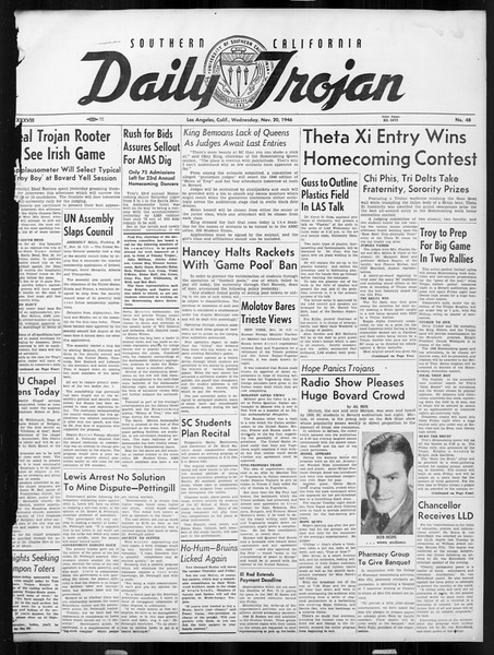 Daily Trojan, Vol. 38, No. 48, November 20, 1946