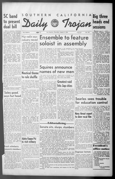 Daily Trojan, Vol. 36, No. 170, August 02, 1945
