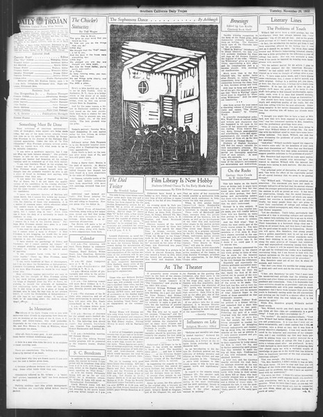 Daily Trojan, Vol. 24, No. 54, November 29, 1932