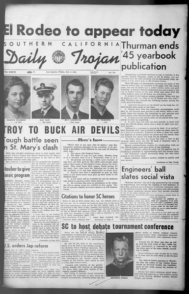 Daily Trojan, Vol. 36, No. 215, October 05, 1945