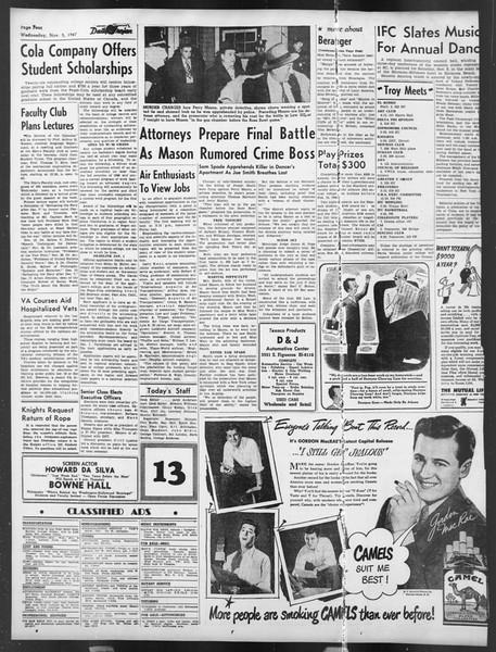 Daily Trojan, Vol. 39, No. 38, November 05, 1947
