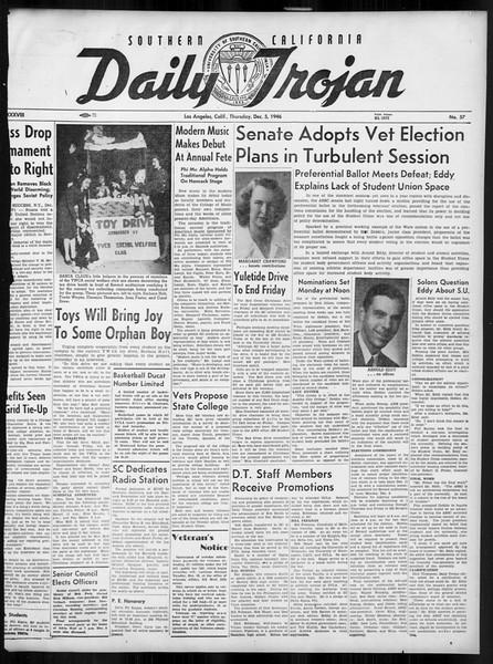 Daily Trojan, Vol. 38, No. 57, December 05, 1946