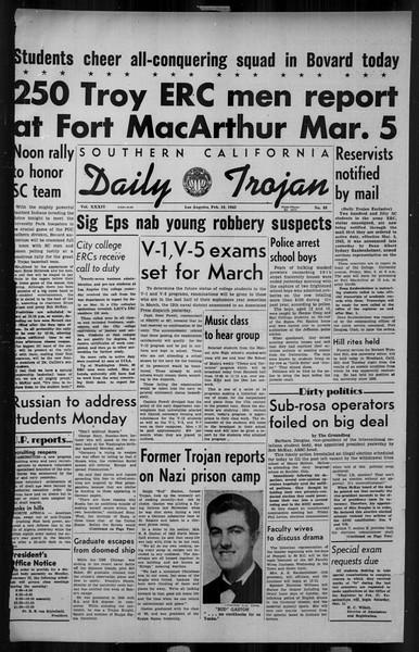 Daily Trojan, Vol. 34, No. 88, February 19, 1943
