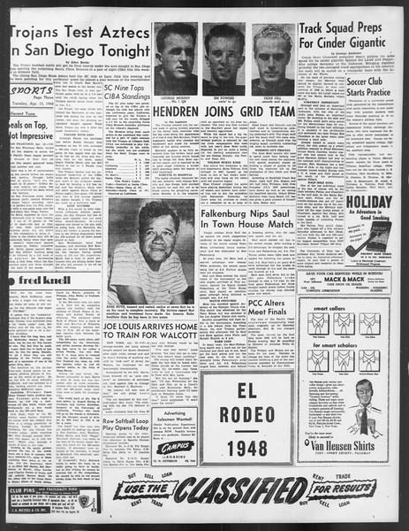 Daily Trojan, Vol. 39, No. 117, April 13, 1948