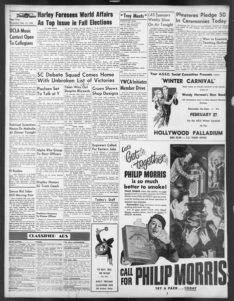 Daily Trojan, Vol. 39, No. 82, February 19, 1948