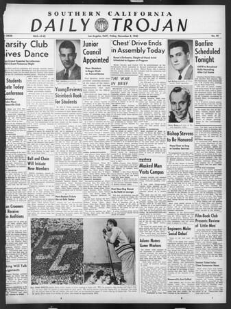 Daily Trojan, Vol. 32, No. 40, November 08, 1940