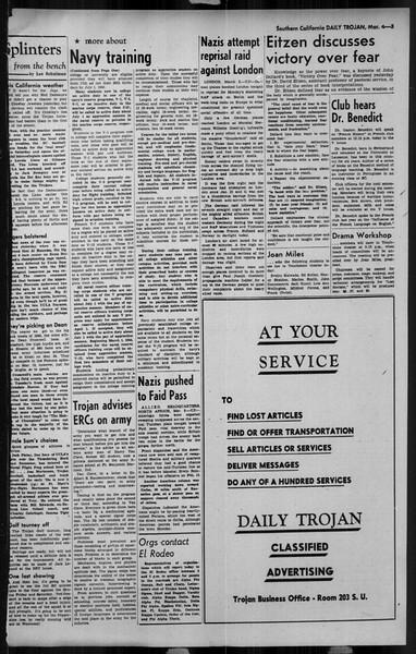 Daily Trojan, Vol. 34, No. 97, March 04, 1943