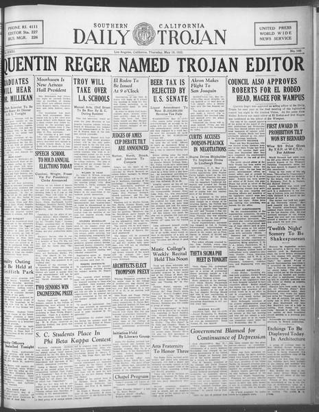 Daily Trojan, Vol. 23, No. 149, May 19, 1932
