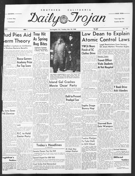 Daily Trojan, Vol. 39, No. 105, March 23, 1948