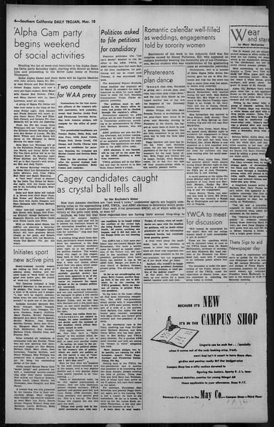 Daily Trojan, Vol. 34, No. 107, March 18, 1943