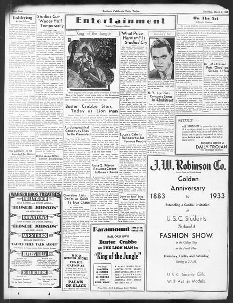 Daily Trojan, Vol. 24, No. 101, March 09, 1933