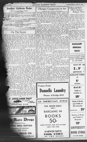 Southern California Trojan, Vol. 11, No. 5, July 06, 1932