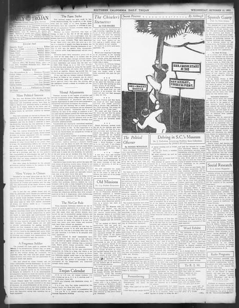 Daily Trojan, Vol. 24, No. 24, October 12, 1932