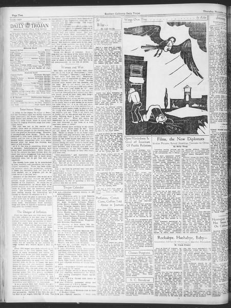 Daily Trojan, Vol. 25, No. 29, November 02, 1933
