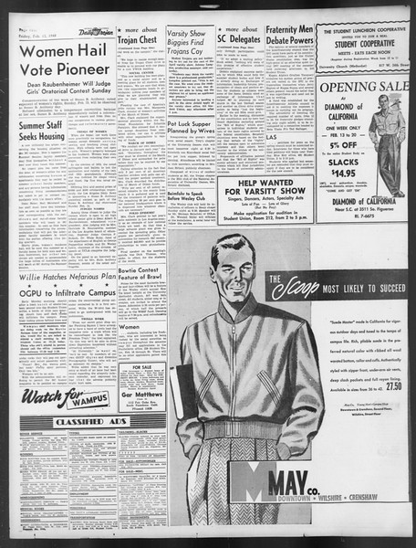 Daily Trojan, Vol. 39, No. 78, February 13, 1948