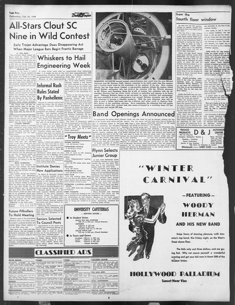 Daily Trojan, Vol. 39, No. 86, February 25, 1948
