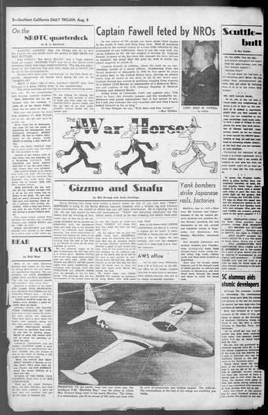 Daily Trojan, Vol. 36, No. 174, August 08, 1945