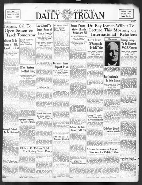 Daily Trojan, Vol. 24, No. 118, March 31, 1933