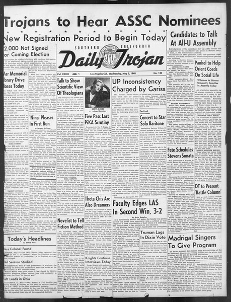 Daily Trojan, Vol. 39, No. 133, May 05, 1948