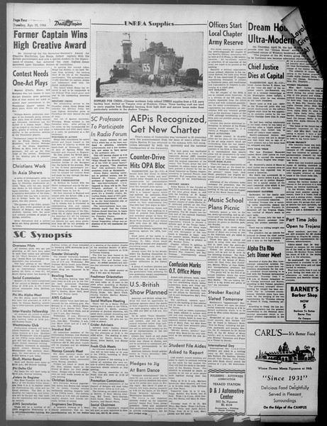 Daily Trojan, Vol. 37, No. 112, April 23, 1946
