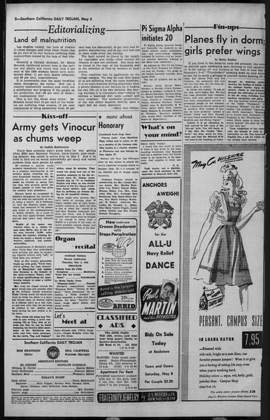 Daily Trojan, Vol. 34, No. 140, May 05, 1943