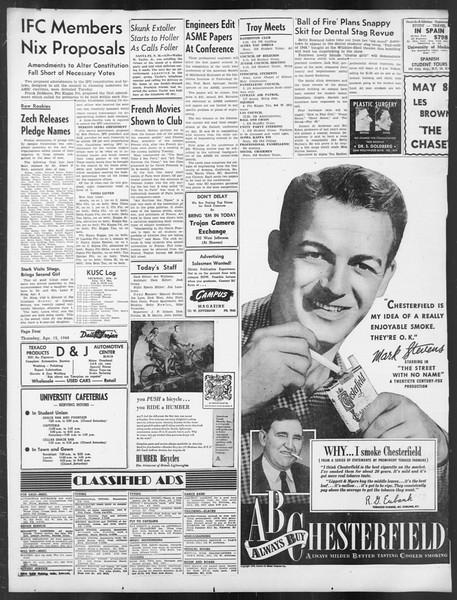 Daily Trojan, Vol. 39, No. 119, April 15, 1948